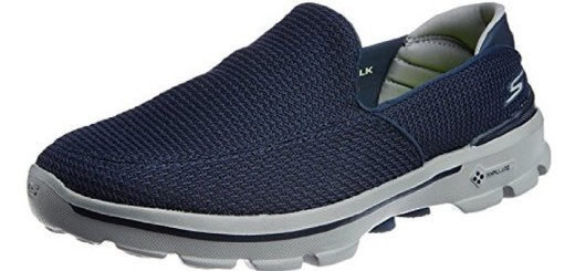 Skechers Men's Go Walk 3 Mesh Slip-on Shoe Blue