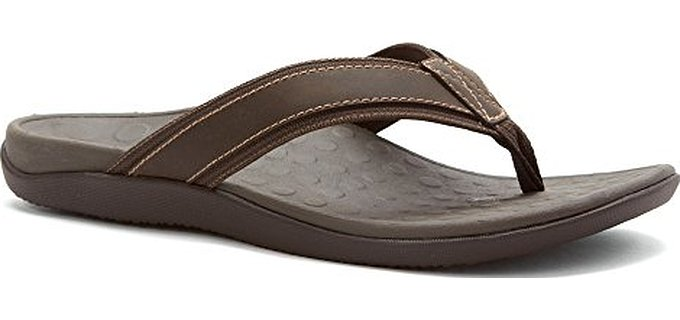 Vionic with Orthaheel Technology Mens Tide Sandal for Plantar Fasciitis