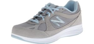New Balance Women's WW877 - Wide Athletic Walking Shoes for Knee Pain