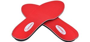 Samurai Women's Orthotics - Flat Feet and Over Pronation Insoles