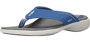 SOLE Men's Sport - High Arch Support Flip Flops
