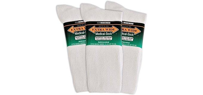 Extra Wide Men's Medical - Larger Fit Diabetic Socks