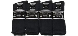 Falari Men's 12  Pair - Diabetic Crew Socks