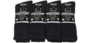 Falari Men's 12  Pair - Diabetic Crew Socks