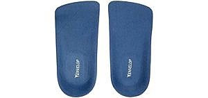 Envelop Men's 3/4 Lenght - Insoles for Plantar Fasciitis and Other Foot Conditions