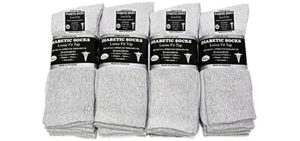 Falari Women's 12  Pair - Diabetic Crew Socks
