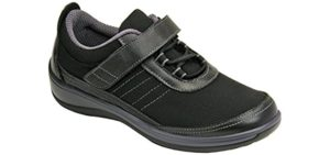 Orthofeet Women's Breeze - Flexible Velcro Wide Toe Walking Shoe