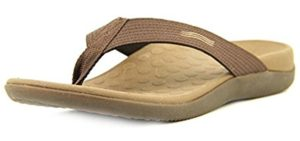 Vionic Men's Wave - Best Flip Flop for Knee Pain