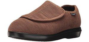 Propet Women's Cush N Foot - Bunion Friendly Velcro Slippers
