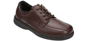 Orthofeet Men's Gramercy - Wide Dress Shoes