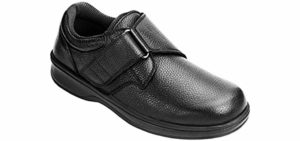 Orthofeet Men's Broadway - Velcro Dress Shoes for Arthritis