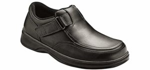 Orthofeet Men's Carnegie - Flexible Velcro Wide Toe Walking Shoe