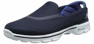 Skechers Women's Go Walk 3 - Slip-On Walking Shoes for Bad Knees