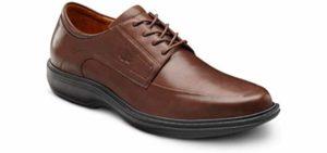 Dr. Comfort Men's Classic - Orthopedic Dress Shoes for Flat Feet