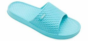 FunkyMonkey Men's Bathroom - Shower and Pool Slip-On Sandals