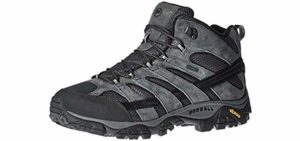 Merrell Men's Moab Mid 2 - Breathable Waterproof Hiking Boots