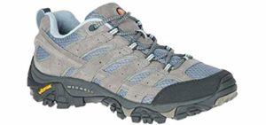 Merrell Women's Moab Ventilator 2 - Ventilated Hiking Shoe for Flat Feet