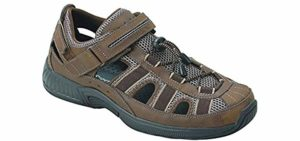 Orthofeet Men's Clearwater - Fisherman's Sandals for Flat Feet
