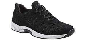 Orthofeet Men's Lava - Orthotic Cushioned Walking Shoe