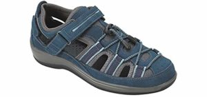 Orthofeet Women's Naples - Fisherman's Sandals for Flat Feet