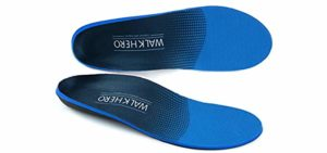 WalkHero Men's Arch Support - Supination Insole for Walking
