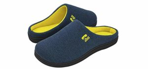 Rock Dove Men's Two Tone - Memory Foam slipper for a High Arch