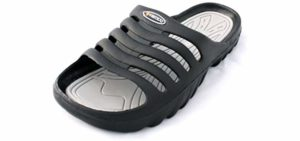 Vertigo Men's Slide On - Anti Bacterial Sandal to Shower In