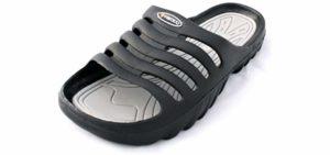 Vertigo Men's Slide On - Anti Bacterial Sandal to Shower In