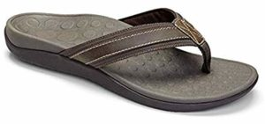 Vionic Men's Tide Toe Post - Flip Flops for Tailor's Bunions