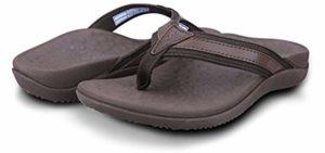 Footminders Men's Baltra - High Arch Support Flip Flop Sandals