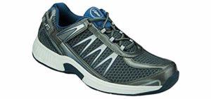 Orthofeet Men's Sprint - Heel Spur Walking Sneakers