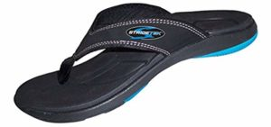 Stride Tek Men's Aliphatics - Arch Support Orthotic Flip Flops