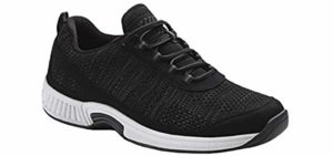Orthofeet Men's Lava - Charcot Foot Walking Sneaker
