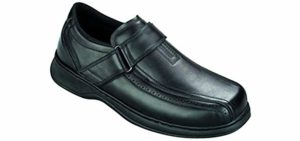 Orthofeet Men's Lincoln Center - Dress Shoes for Flat Feet With Bunions