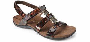 Vionic Women's Rest Amber - Orthaheel Technology Orthopedic Sandals