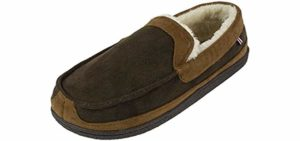 Izod Men's Classic - Memory Foam Slippers