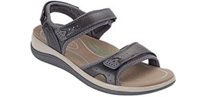 Orthofeet Women's Malibu - Sweaty  Feet Sandal