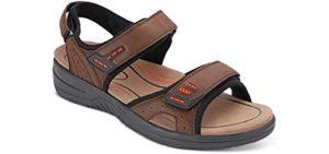 Orthofeet Men's Cambria - Sweaty  Feet Sandal