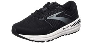 Brooks Men's Beast 20 - Wide Width & Flat Feet Running Shoe