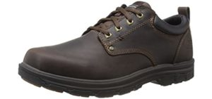 Skechers Men's Segment Rilar - Plantar Fasciitis and Heel Spur Dress Shoe