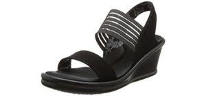 Skechers Women's Rumblers Rock Solid - Plantar Fasciitis and Heel Spur Dress Shoe