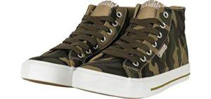 Urban Classics Men's Camo - High Top Sneakers