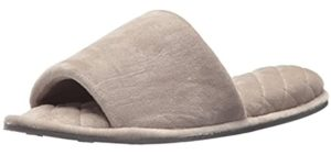 Dearfoams Women's Velour Side - Plush Memory Foam Slipper