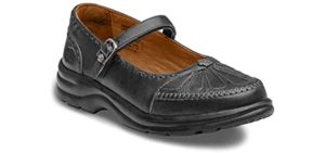 Dr. Comfort Women's Annie - Walking on Concrete Dress Shoe