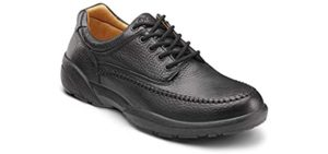 Dr. Comfort Men's Stallion - Walking on Concrete Dress Shoe