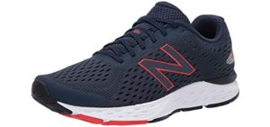 New Balance Men's 680V6 - Walking and Running Shoe for Diabetic Symptoms