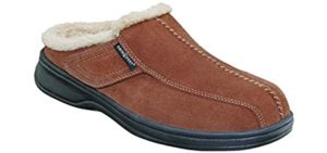 Orthofeet Men's Asheville - Best Slippers with Arch Support