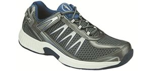 Orthofeet Men's Sprint - Orthopedic Extra-Wide Walking Shoes