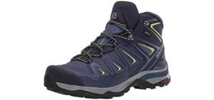 Salomon Women's X Ultra Mid 3 GTX - Multifunctional Hiking Boots for Tough Mudder