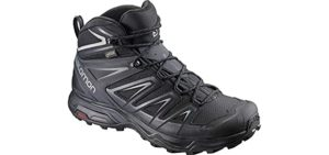 Salomon Men's X Ultra Mid 3 GTX - Multifunctional Hiking Boots for Tough Mudder